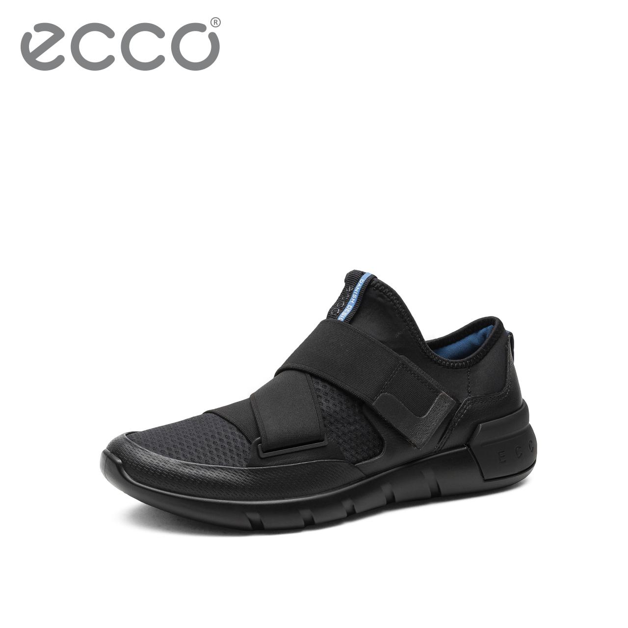 ECCO爱步春夏新品青年休闲鞋 时尚便捷魔术贴牛皮鞋 跨越X431534