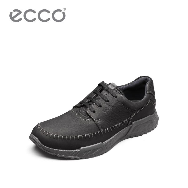 ECCO爱步男士商务休闲鞋 舒适透气运动鞋轻盈牛皮鞋 卢卡531324
