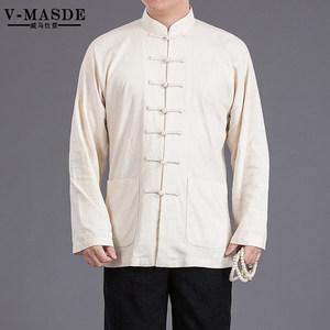 威马仕登唐装中国风男装外套男民族服装中年中式长袖外套中山装