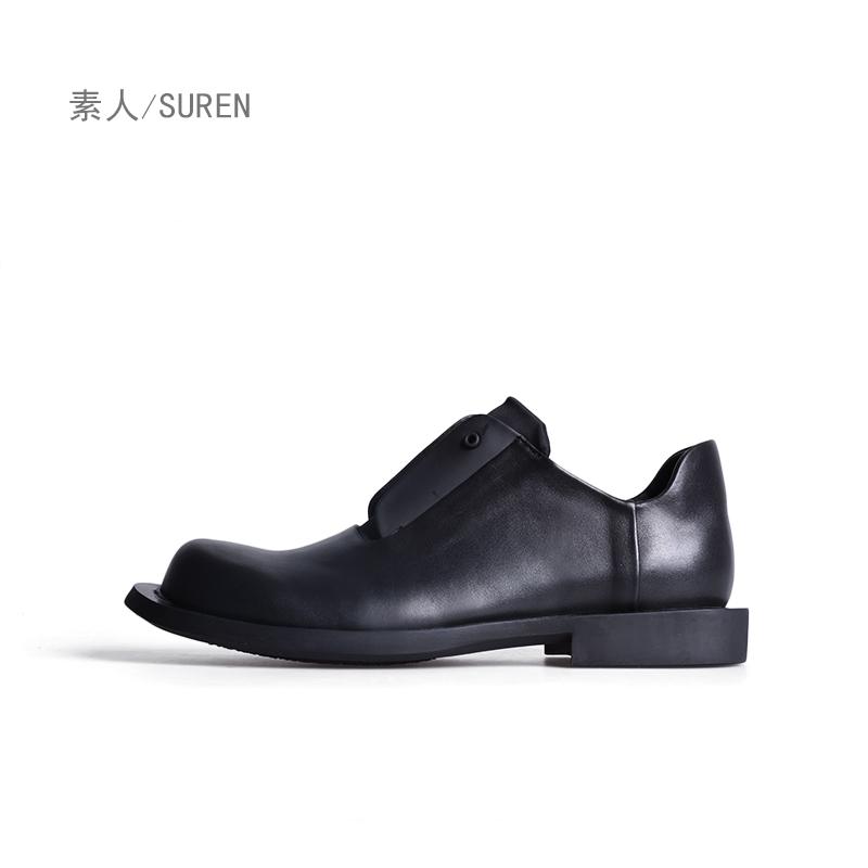 素人原创设计 休闲舒适通勤牛皮女单鞋 17DWG058