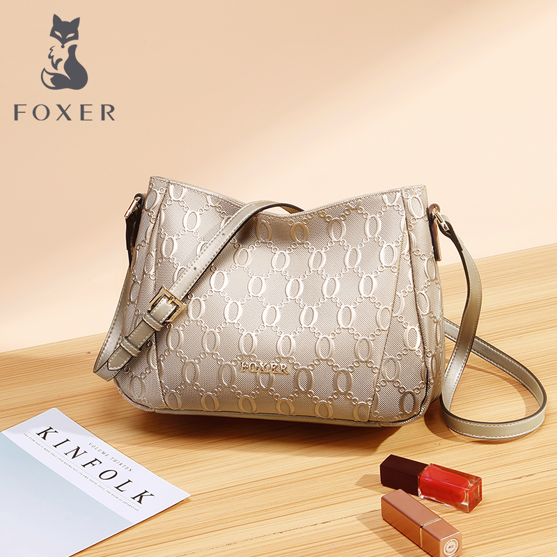 Golden Fox Bag woman 2019 new middle-aged mother soft leather cowhide single shoulder bag female bag crossbody bag woman
