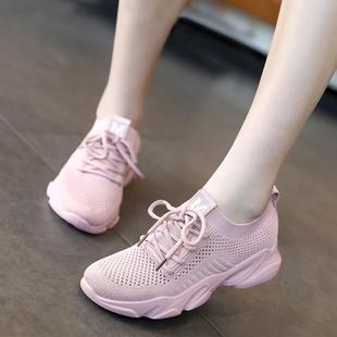 镂空网面飞织透气运动鞋女夏季2019新款韩版百搭学生轻便跑步鞋子