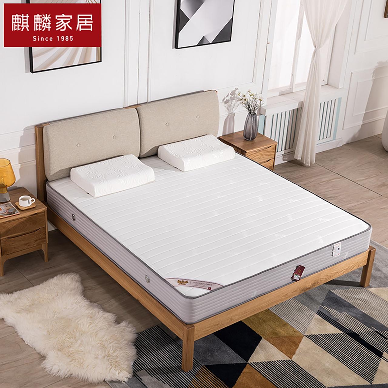 麒麟床垫弹簧席梦思床垫1.8经济型成人席梦思床垫硬垫 金陵春