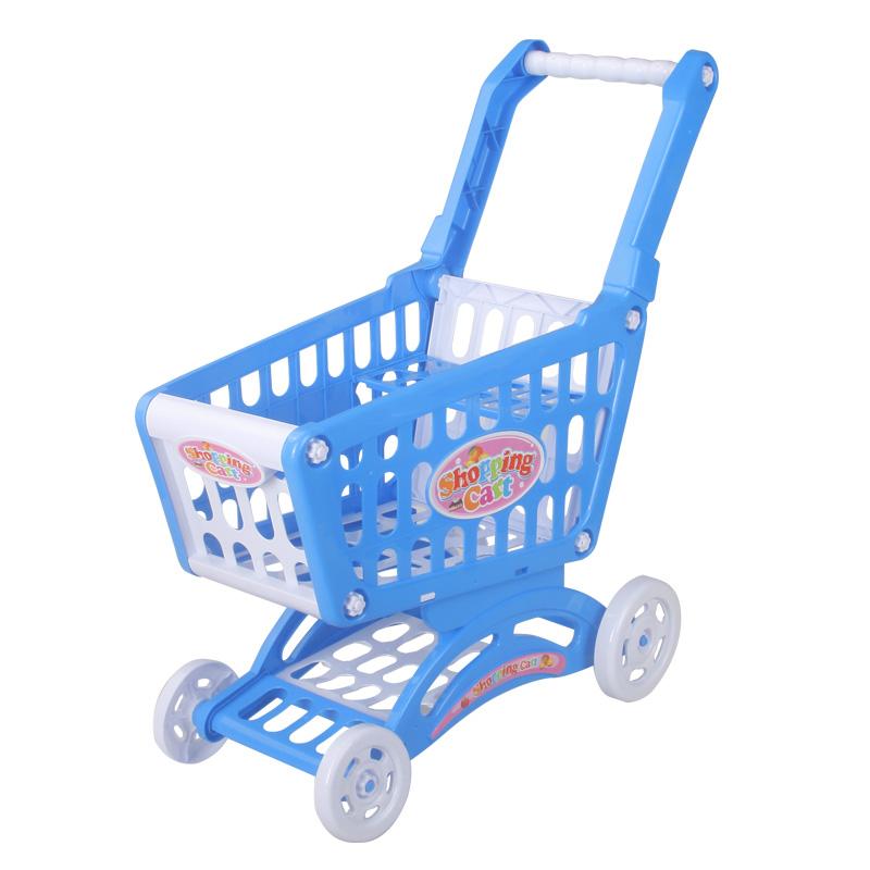 儿童仿真超市购物车玩具 男女孩过家家 宝宝手推车厨房切切乐套装