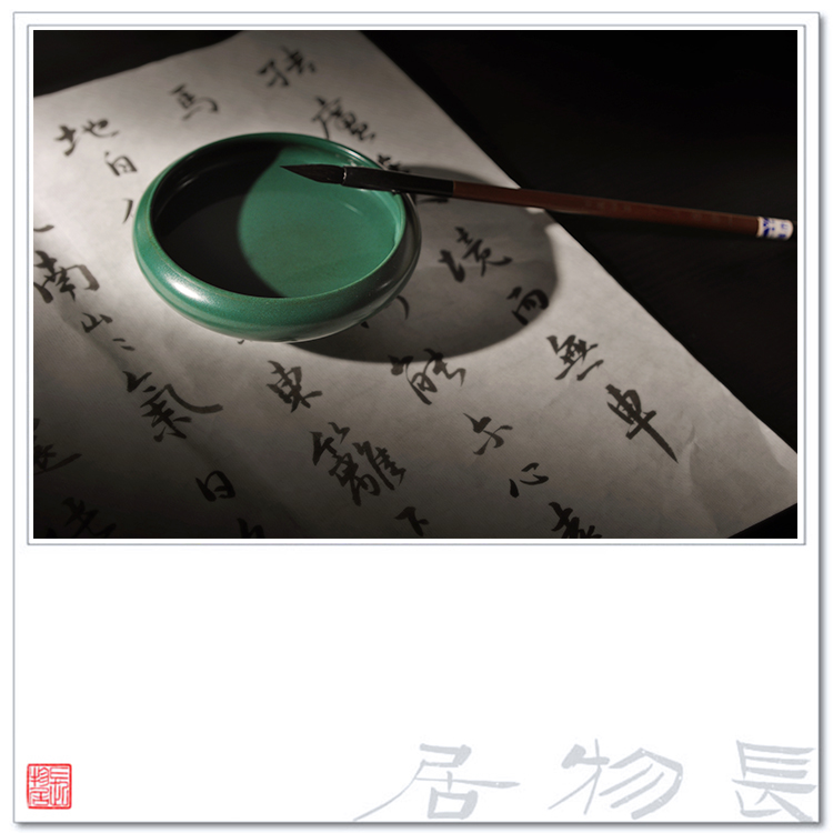 Offered home - cooked view flavour malachite green in writing brush washer trumpet archaize ceramic writing brush washer from jingdezhen porcelain four by hand