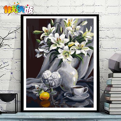 佳彩天颜di油画花卉装饰画