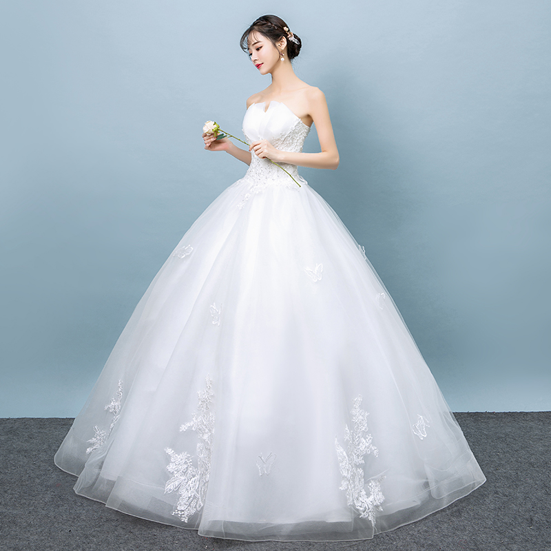 top wedding dress 2018 new spring Korean bride married simple and ...
