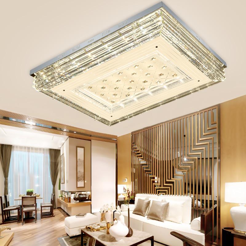 预雷士照明LED水晶灯客厅长方形卧室灯具简约现代大气家用吸顶灯
