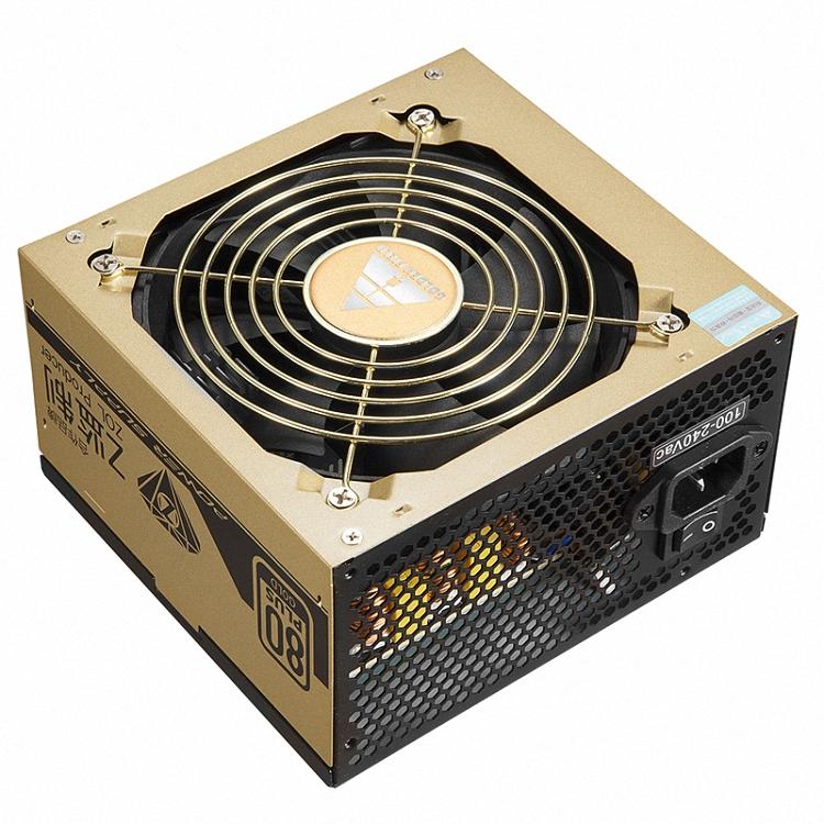 金河田 电源500w金牌 静音高效台式机电竞游戏电脑主机电源