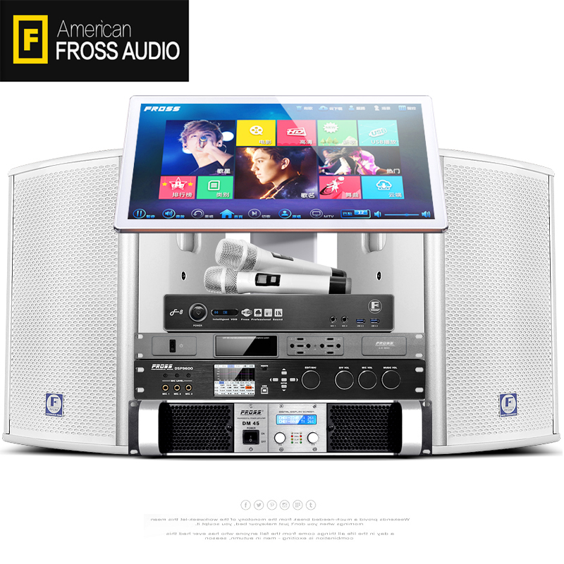 Fross-沸斯 全系超级套专业KTV音响套装家用卡拉OK点歌机全套家庭