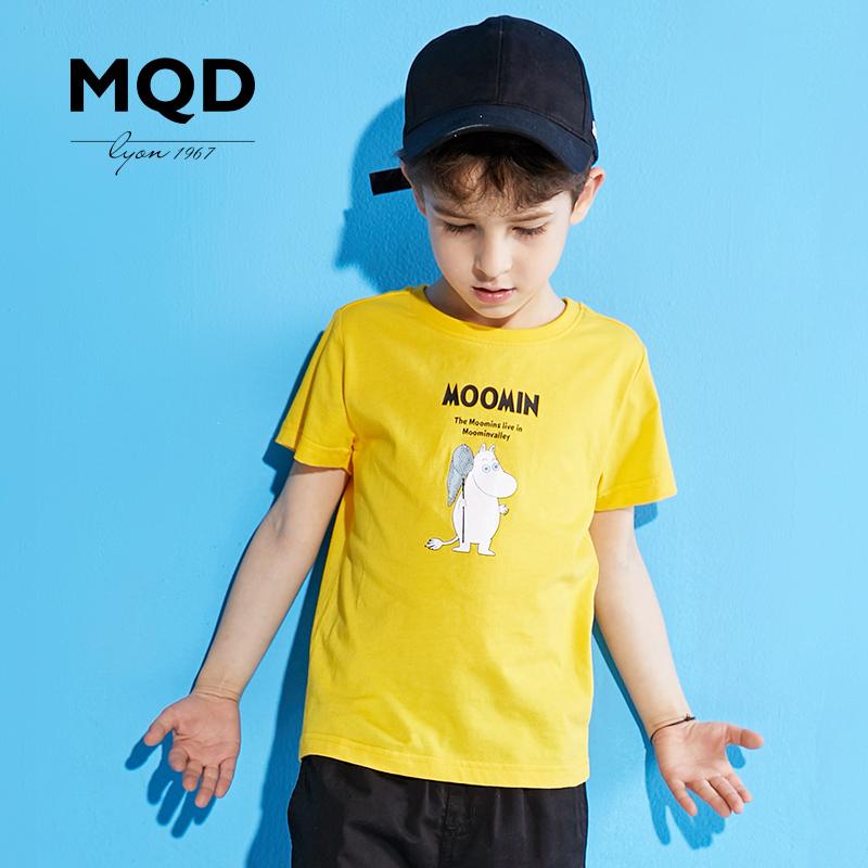 MQD童装男童短袖T恤中大童体恤衫儿童薄款打底衫2018夏季