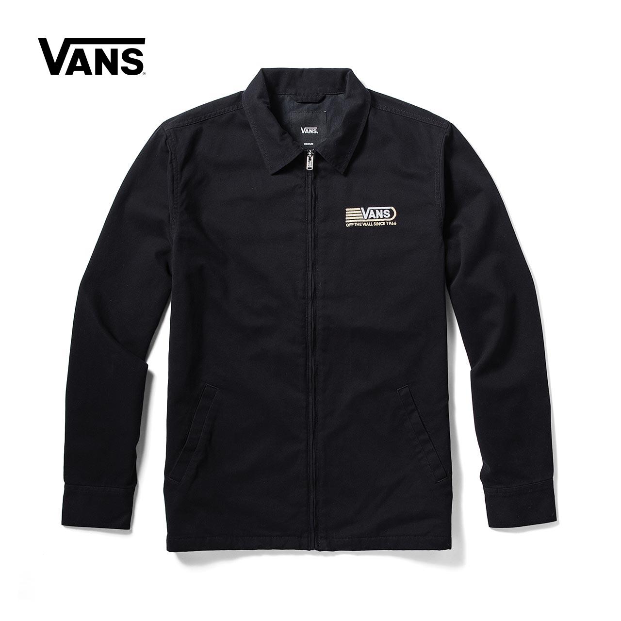 Vans 范斯官方秋季男款黑色夹克|VN0A3HOVBLK