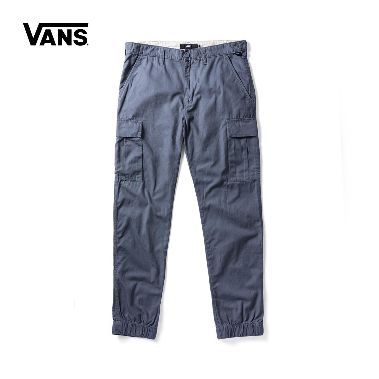 Vans 范斯官方秋季男款灰蓝色梭织长裤|VN0A36LNRV2