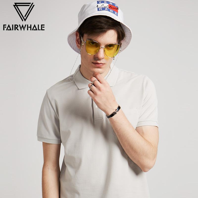 马克华菲polo衫男短袖2018夏季新品男士印花短袖t恤翻领纯棉上衣