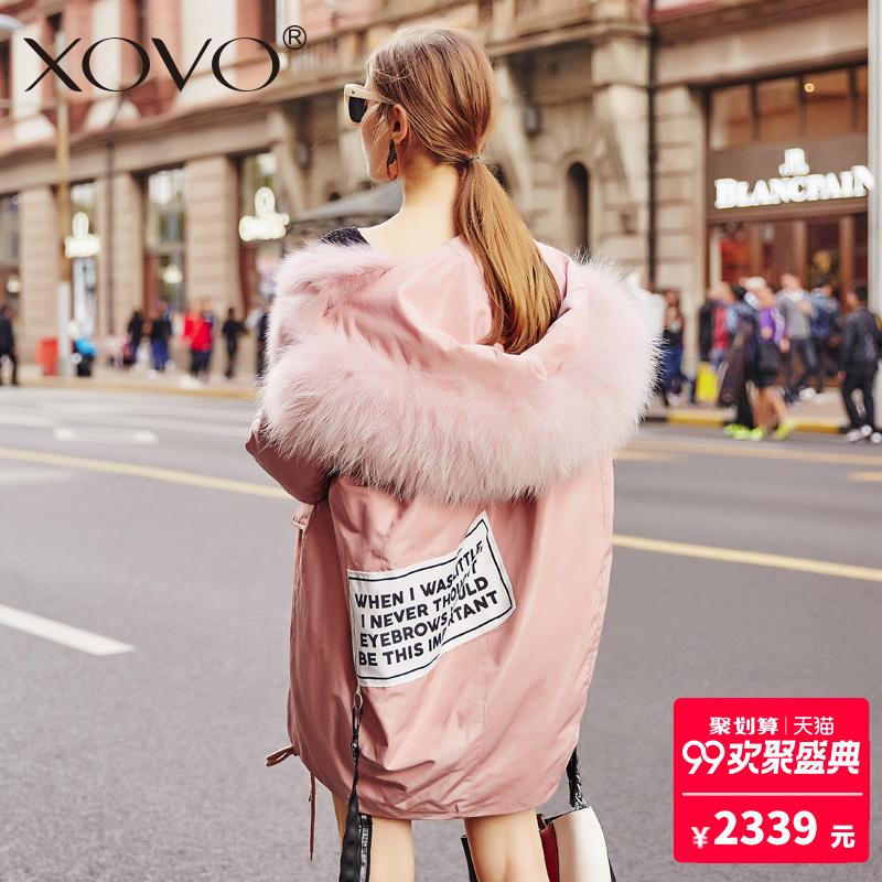 狐狸毛派克大衣派克服女皮草内胆中长款2018新款冬韩版尼克服外套