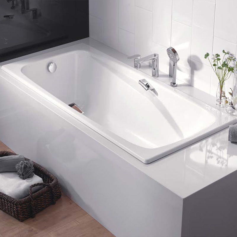 科勒铸铁浴缸雅黛乔1.7米嵌入式铸铁浴缸 成人浴缸浴盆K-731T