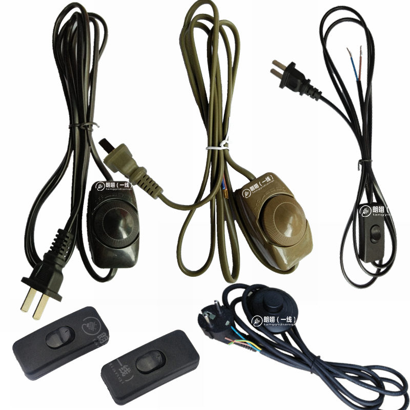 Wire accessories table lamp switch with on line control dimming lighting wire accessories table lamp switch with on line control dimming power cord two plug button foot greentooth Choice Image