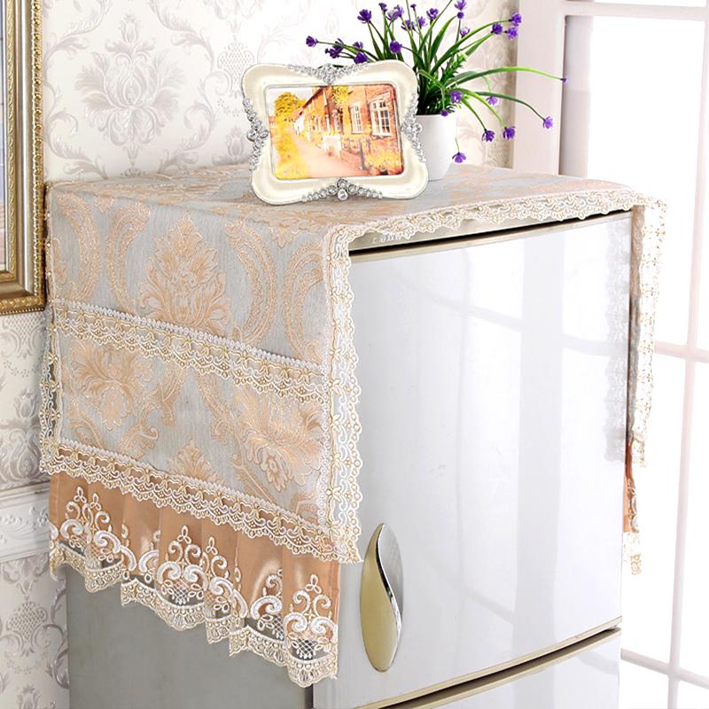 欧式对开门单开门冰箱巾盖布布艺防尘罩盖巾双开门冰柜洗衣机罩套
