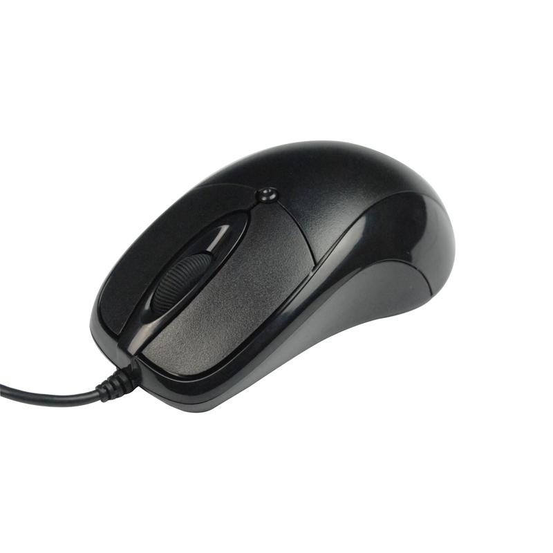 力胜 OP-300C 鼠标送垫 台式机电脑笔记本鼠标 有线 办公网吧鼠