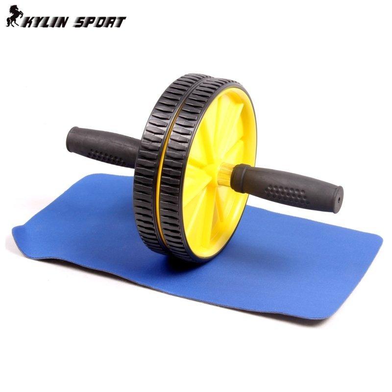 双轮健腹轮 男腹肌轮静音腰部运动器 家用女减肥瘦身塑形健身器材