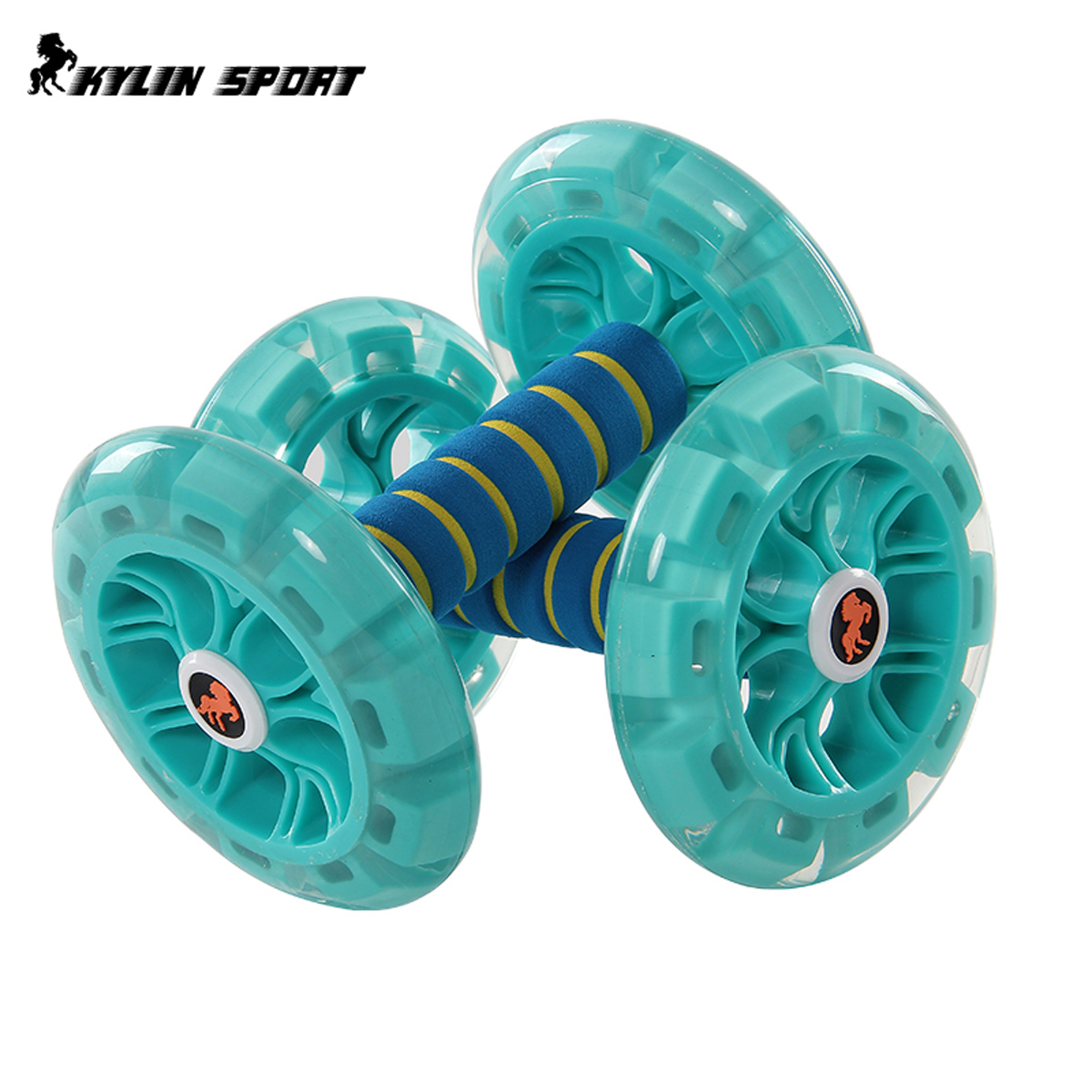 健身器材家用四轮健腹轮男士腹肌轮静音防滑女马甲线腰部运动