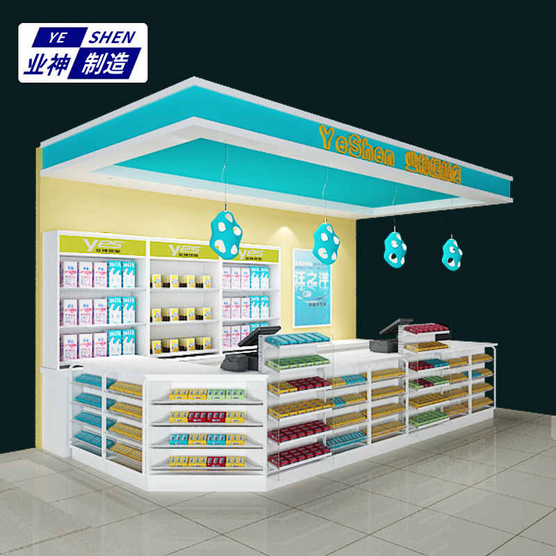 Industry God Manufacture boutique supermarket cashier simple modern  convenience store counter small pharmacy corner checkout counter