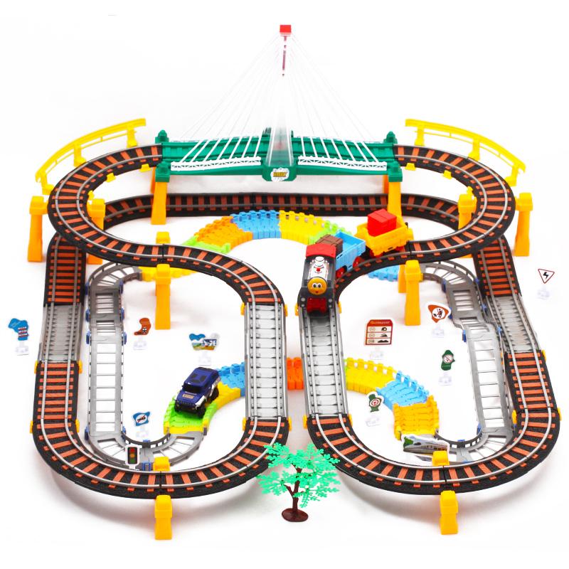 托拖马斯小火车套装轨道汽电动玩具男孩高铁和谐号3-6-8-10岁儿童