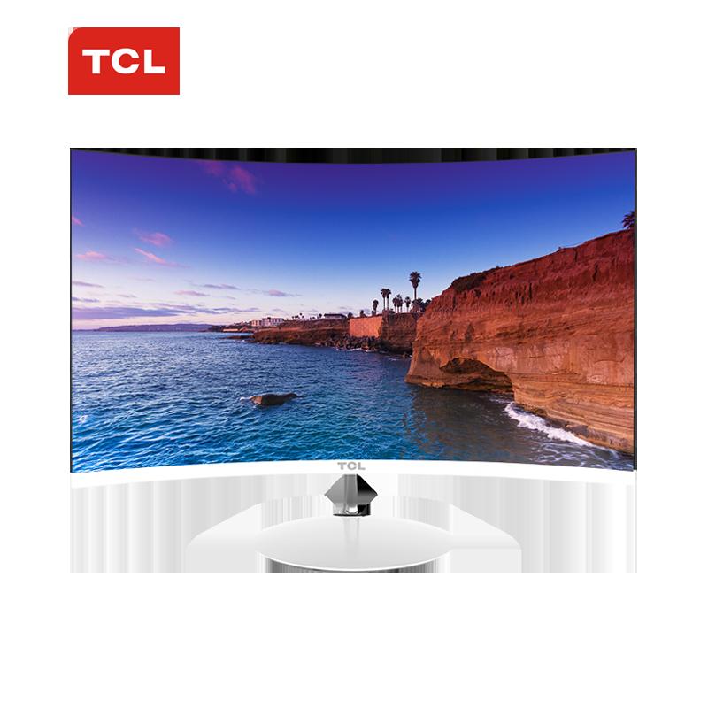 TCL曲面显示器24英寸 T24M6C电竞PS4曲屏1080P液晶台式电脑屏幕