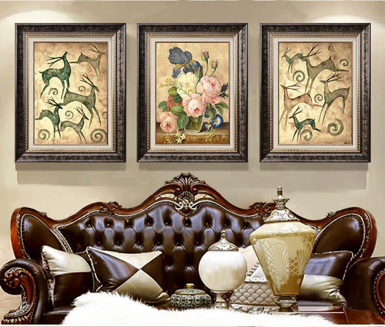 【辰榕兵宇官网】欧式美式现代客厅沙发背景墙装饰画