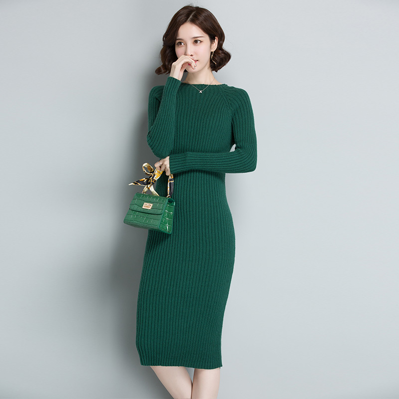 冬季打底衫针织连衣裙毛衣裙