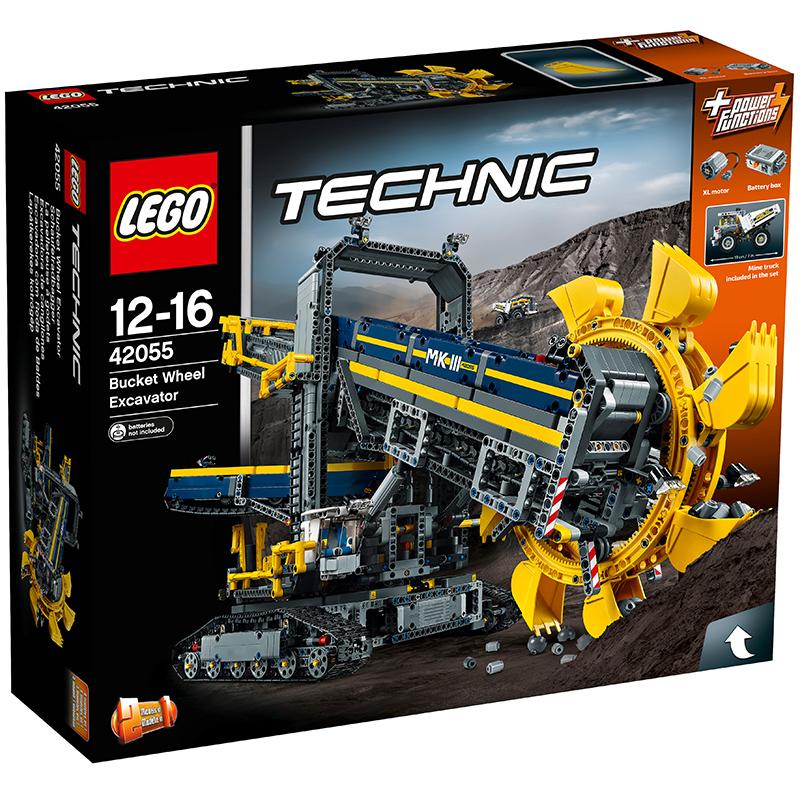 乐高机械组系列 42055 大型斗轮式挖掘机 LEGO Technic 积木玩具