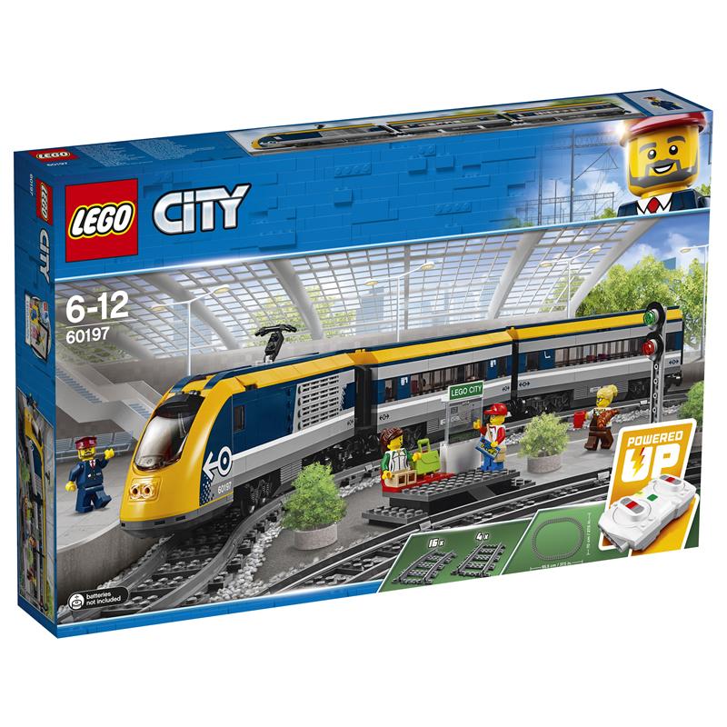 7月新品 乐高城市系列 60197 客运火车 LEGO积木玩具