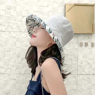 夏季遮阳帽大沿遮脸个性百搭渔夫帽女