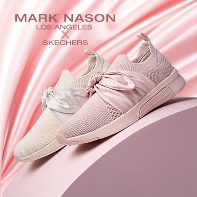 Skechers斯凯奇新款蝴蝶结平底鞋 设计师款休闲鞋 68741