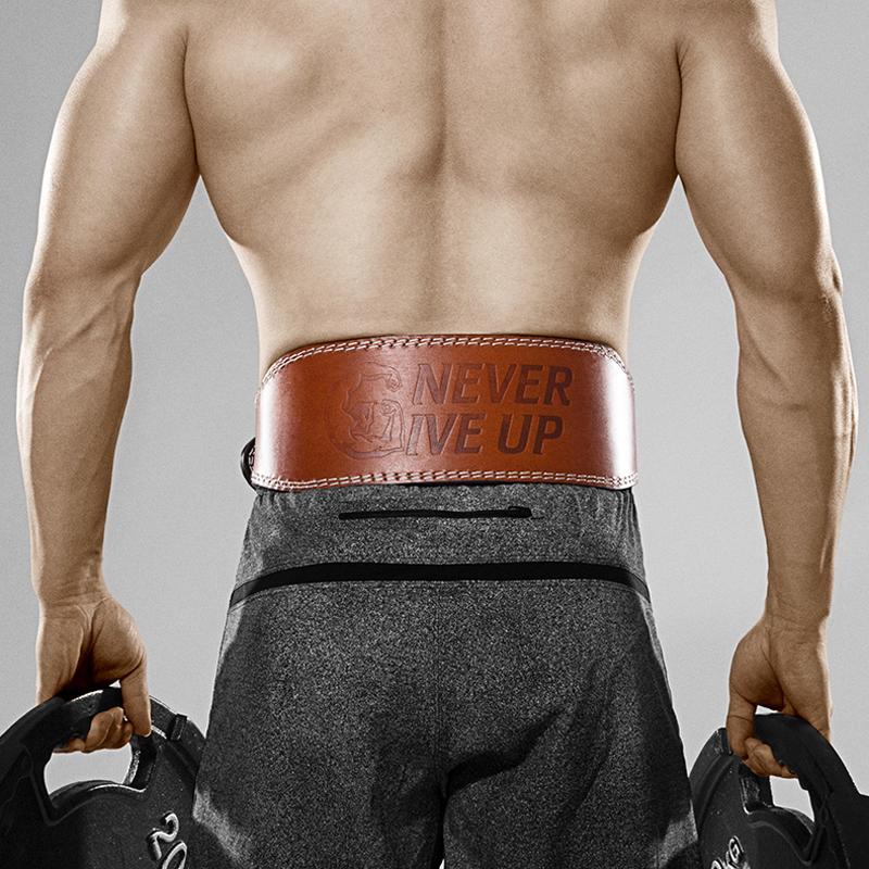 运动护腰带男女健身腰带深蹲硬拉牛皮护具装备健美举重力量举训练