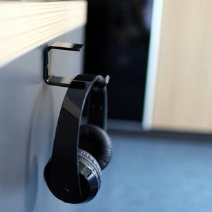 头戴式耳麦挂架金属耳机架挂钩耳机座L型单耳机挂钩耳机支架挂钩