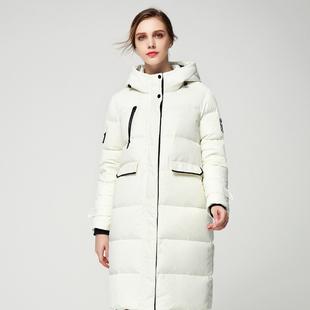 暖频道2018新款连帽羽绒服女中长款韩版加厚修身羽绒服正品外套女