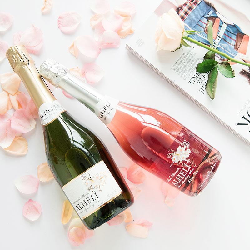 【浪漫之花】进口红酒甜型起泡酒桃红气泡酒&白葡萄酒甜型 甜红酒