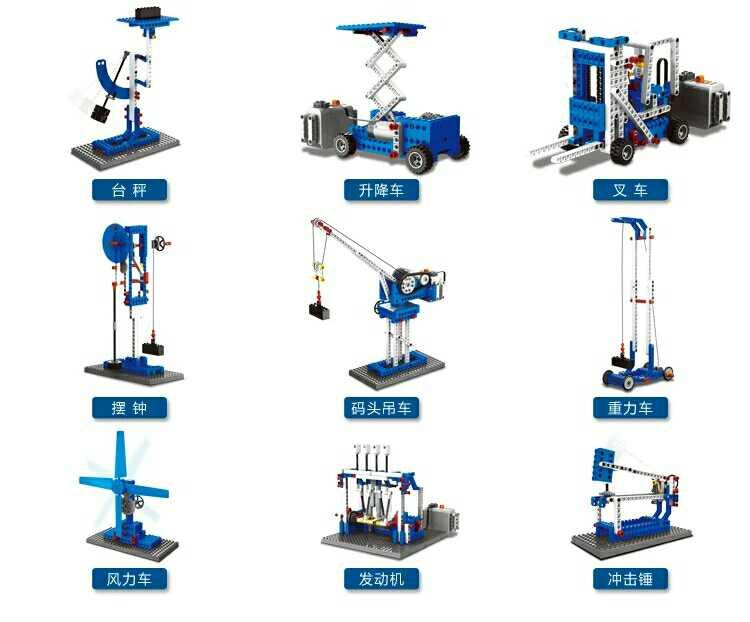 王老师玩具店>>乐博士kj009小套装颗粒积木机械动力兼容乐高9686搭搭搭积木教学设计图片