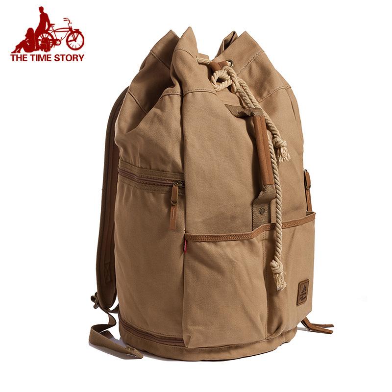 双肩包男女帆布个性大容量户外旅游韩版潮中学生书包水桶篮球背包