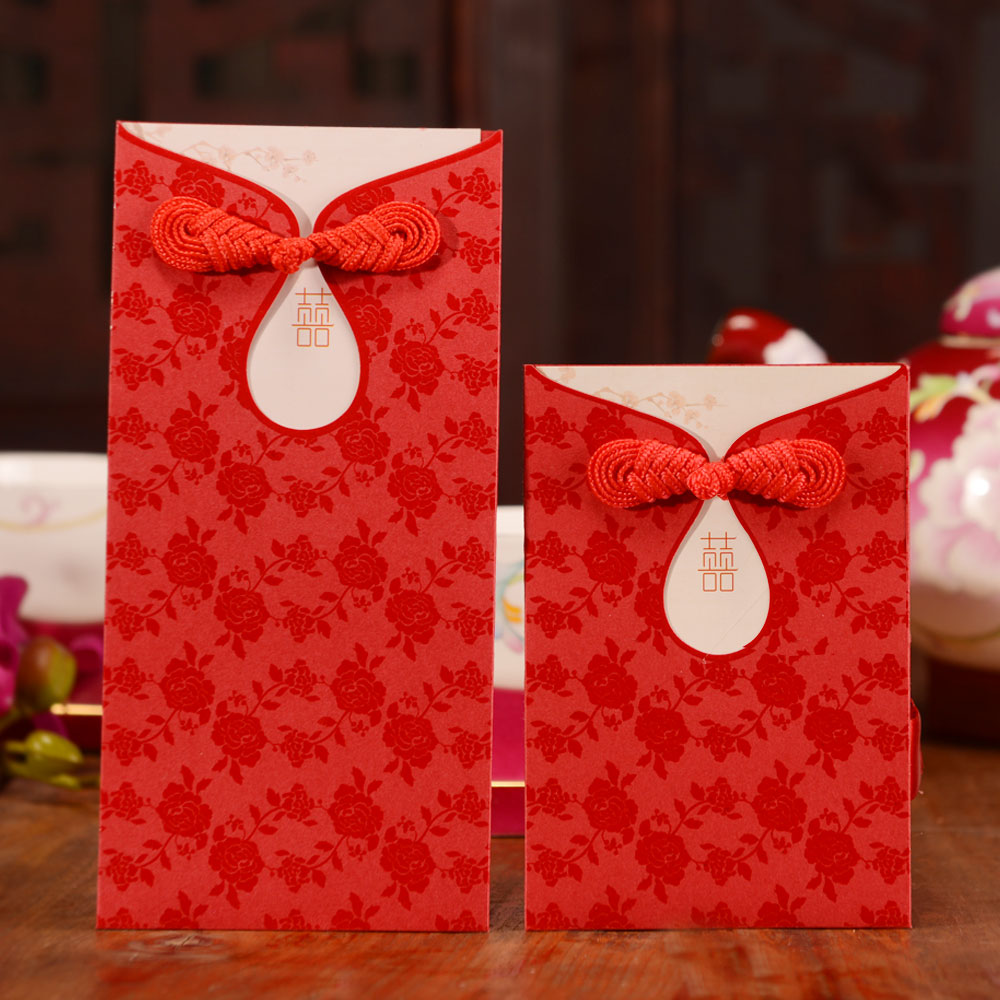 Red envelope personalized wedding gifts
