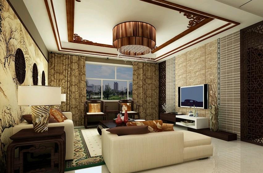 去购买 中式风格家装中的窗帘不一定为中式风格,但一定能够与中式图片