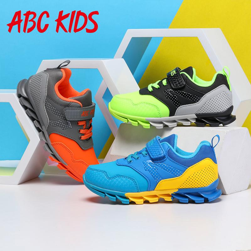 abckids男童运动鞋秋冬季Q二棉鞋防滑跑步休闲保暖鞋
