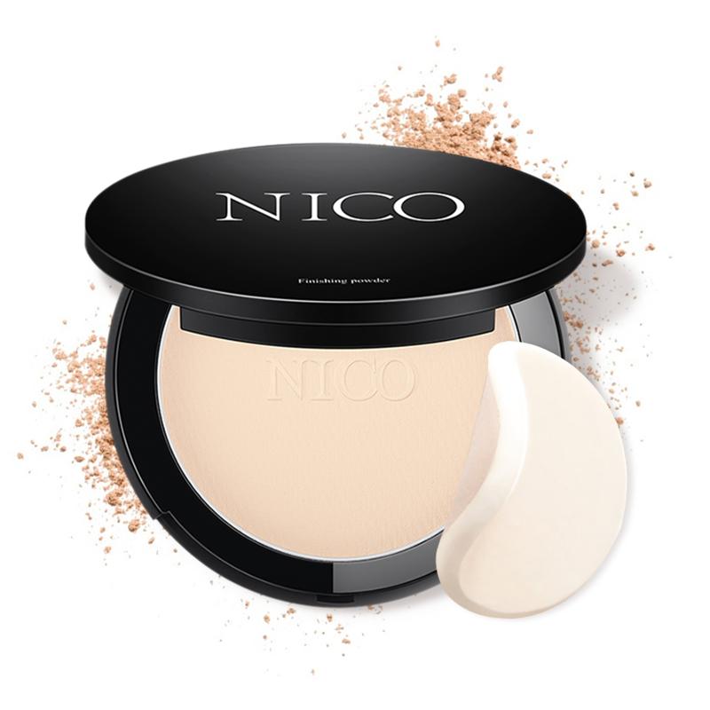 Nico粉饼定妆持久遮瑕韩国控油干湿两用干粉散粉修容蜜粉粉底正品