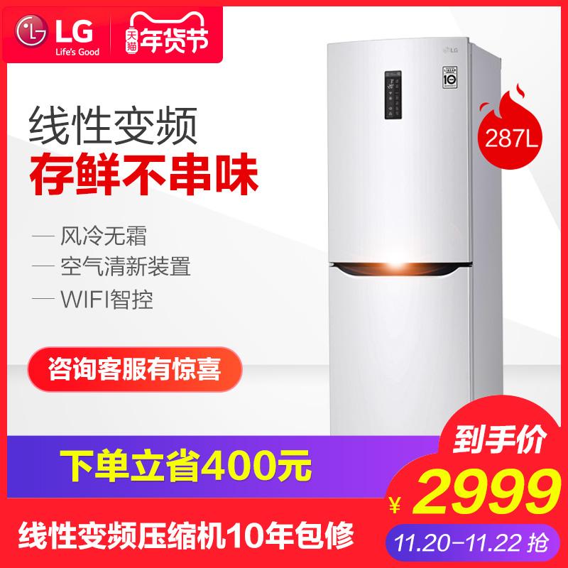 LG GR-M29PNPQ 双门线性变频风冷无霜家用静音小型双开门电冰箱 -