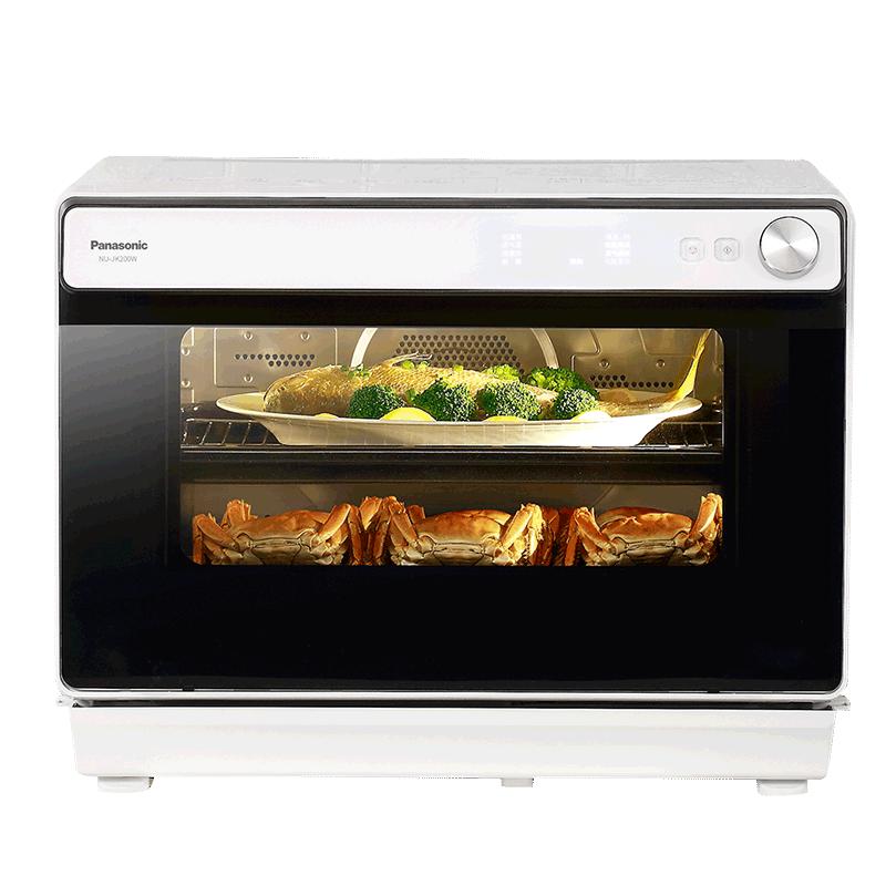 Panasonic/松下NU-JK200W蒸烤箱30L二合一蒸汽烤箱一体如何使用评价