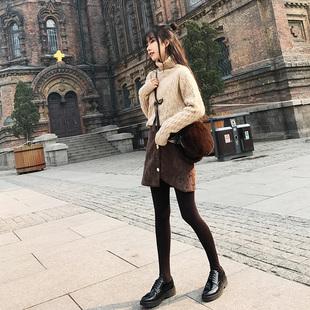 2017冬装新款高领毛衣女港味chic长袖套头针织衫韩版打底衫学生潮
