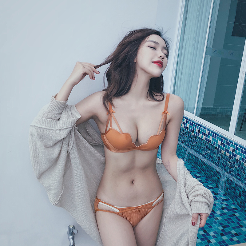 72ef7b6f8e Anna honey language sexy thickening small chest underwear women s suit  without steel ring gathered girl bra