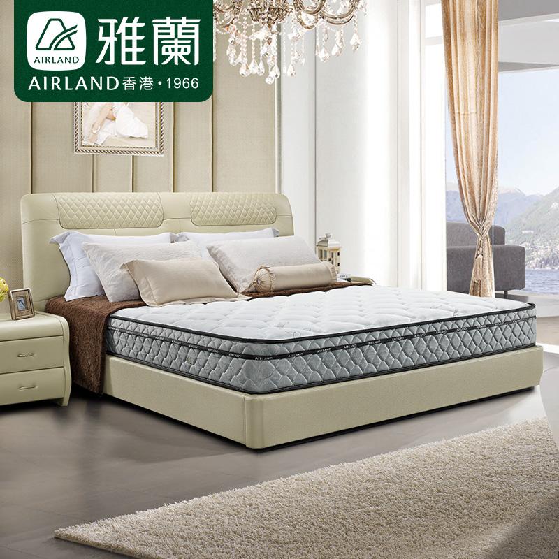 雅兰真皮床 梵蒂 头层牛皮卧室双人床1.5米 1.8米现代简约床架聚