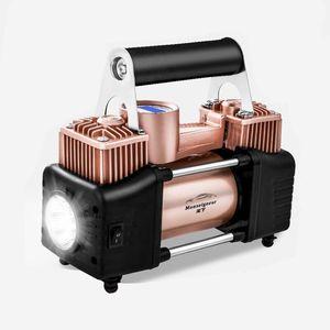 车载充气泵12V汽车双缸便携式小轿车电动车打气泵高压打气筒车用